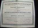 """Certificat Provisoire""""Sté Metallurgique Dniéprovienne Du Midi De La Russie 1917 Russia - Russland"""