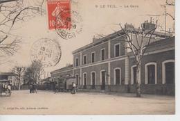 CPA Le Teil - La Gare (animation Avec Attelages) - Le Teil