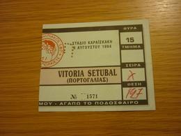 Olympiakos- Vitoria Setubal International Friendly Game Football Match Ticket Stub 08/08/1994 - Tickets & Toegangskaarten