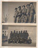GRUPPO DI ALPINI -  - COPPIA DI FOTO CM 13,5 X 8,5 - Guerra, Militari