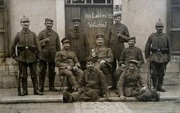 Lobbes, Thuin, Soldats Allemands, GUERRE 14/18 , Photo D'une CP. , 2 Scans - Guerre, Militaire