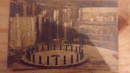 57 WWI RARE CARTE PHOTO HAMPONT CHATEAU SALINS EMPLACEMENT GROS CANON '' MAX '' QUI TIRAIT SUR NANCY LE SOUS PREFET ET S - Chateau Salins