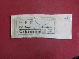 Ticket D`entrée Futebol Portugal - Austria - Estádio Nacional - Bilhete De Entrada 1953 - Biglietti D'ingresso