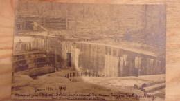 57 WWI RARE CARTE PHOTO HAMPONT CHATEAU SALINS EMPLACEMENT GROS CANON '' MAX ''  LE SOUS PREFET ET SA FEMME  1919 - Chateau Salins