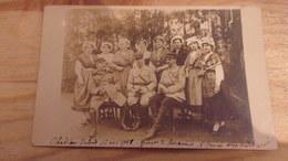 57 WWI RARE CARTE PHOTO  CHATEAU SALINS 17 NOV 1918 GOUPE DE LORRAINES HENRIOT LE SOUS PREFET A GAUCHE - Chateau Salins