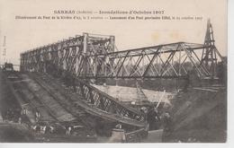 CPA Sarras - Inondations D'octobre 1907 - Effondrement ... Le 8 Octobre - Lancement D'un Pont Provisoire Le 23 Octobre - Frankreich
