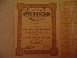 Société Belge Sobelac Des Applications Du Cuir 1928 Fresin - Industrie