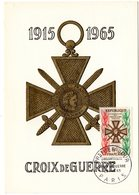 Carte Maximum 1965 - Cinquantenaire De La Croix De Guerre - YT 1452 - Paris - Maximum Cards