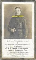 Oorloog 14/18 - Desmet Gaston *- Caporal Au 3e Chasseurs à Pied - Anvaing 1893 - Moorslede 1918 - Décès