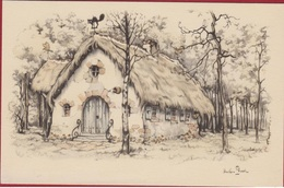 Anton Pieck De Efteling Kaatsheuvel Sprookjes Bos Huisje Van Vrouw Holle Illustrator Illustrateur - Pieck, Anton