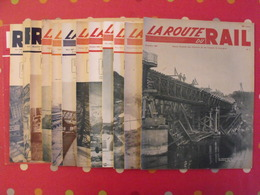 """13 Numéros De """"la Route Du Rail"""". Revue Illustrée Des Chemins De Fer Français Et étrangers. SNCF - Livres, BD, Revues"""