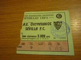 Olympiakos-Sevilla UEFA CUP Game Football Match Ticket Stub 31/10/1995 - Tickets & Toegangskaarten