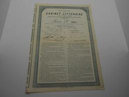 Action Société Du Cabinet Littéraire De Verviers  1891 N°253 Signature:Simonis,Charles Thirion - Actions & Titres