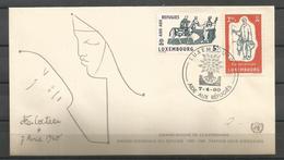 Luxembourg 1960 World Refugee Year FDC - Vluchtelingen