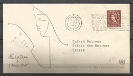 United Kingdom 1960 World Refugee Year FDC - Vluchtelingen