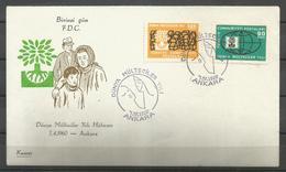 Turkey 1960 World Refugee Year FDC - Vluchtelingen