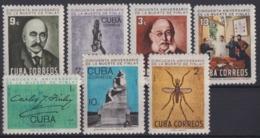 1965.161 CUBA 1965 MNH Ed.1219-25. CARLOS J. FINLAY MEDICINE YELLOW FEVER MEDICINA. - Unused Stamps