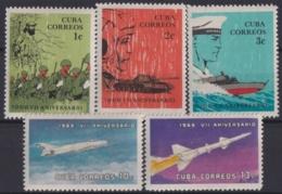 1966.140 CUBA 1966 MNH Ed.1248-55. VII ANIV REVOLUTION ARMY AVION ROCKET - Unused Stamps