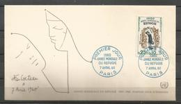 France 1960 World Refugee Year FDC - Vluchtelingen