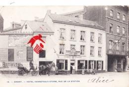 DINANT - Hôtel Henroteaux-Storm, Rue De La Station - Carte Circulé 1906 (Hôtel Du Midi Juste à Côté) - Dinant