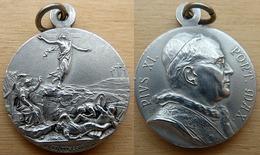 NM-295 Médaille Ancienne Pius XI (19 Centenario1933) Anagramme AP - Religione & Esoterismo