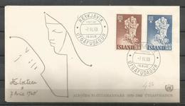 Iceland 1960 World Refugee Year FDC - Vluchtelingen
