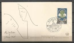 Monaco 1960 World Refugee Year FDC - Vluchtelingen