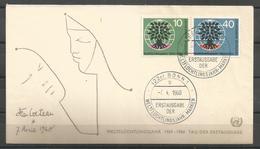 Germany BUND 1960 World Refugee Year FDC - Vluchtelingen