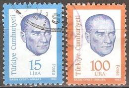 Turquie - 1983 - Atatürk - YT 2406 Et 2408 Oblitérés - 1921-... Republiek