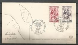 Italy 1960 World Refugee Year FDC - Vluchtelingen