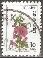 Turquie - 1984 - Guimauve Officinale - YT 2440 Oblitéré - 1921-... Republiek