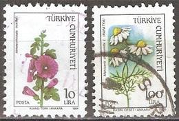 Turquie - 1984 Et 1985 - Fleurs - YT 2440 Et 2473 Oblitérés - 1921-... Republiek