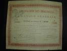 """Certificat""""Liquidation Des Immeubles De La Banque Generale""""Bruxelles1871. - Banque & Assurance"""