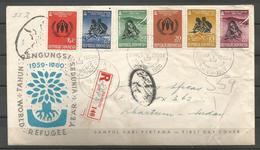Indonesia 1960 World Refugee Year Posted To Ethiopia FDC - Vluchtelingen