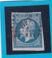 N° 14A   AMBULANT DE FRANCE  - HP3 ° -  REF 14615 + Variété - 1853-1860 Napoleon III