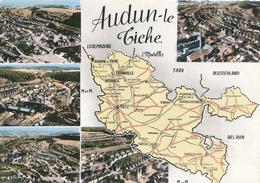 57) AUDUN-LE-TICHE : Carte Multi-vues (1967) - Other Municipalities