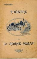 1923 THEATRE DE LA ROCHE POSAY CASINO DE POSAY Vienne  PROGRAMME  B.E.V.SCANS - Programmes