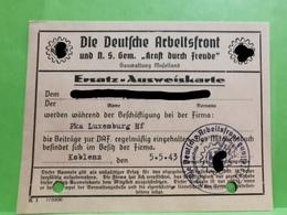Luxembourg Occupation, Die Deutsche Arbeitsfront Luxemburg 1943 - 1940-1944 Occupation Allemande