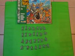 Figurines Revell 1/72 Chevaliers Francais Ref 2563 E 10 -14 - Figurines