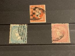 Antillas Españolas Nº 9,14, 17. Año 1857/69. - España