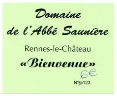 Ticket D'entrée °_ Domaine De L'Abbé Saunière à Rennes Le Château -11- N° 5123 - 7x9 - Biglietti D'ingresso