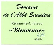 Ticket D'entrée °_ Domaine De L'Abbé Saunière à Rennes Le Château -11- N° 5124 - 7x9 - Biglietti D'ingresso