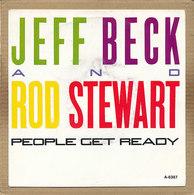 """7"""" Single, Jeff Beck & Rod Stewart - People Get Ready - Disco, Pop"""