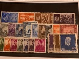 Rumanía Nº 657/69, 686/95. Año 1941/2. - Neufs