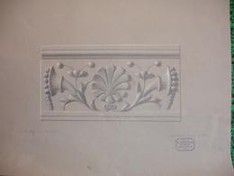Kgl. Industrieschulen, Nuernberg, Bautechn. Abteilung., 1903, Friedrich Huber, Fusain, Acanthe Et Corne D'Abondance - Pastel
