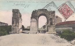SANTA MARIA CAPUA VETERE-CASERTA-ARCO FELICE-CARTOLINA VIAGGIATA IL 9-8-1909 - Caserta
