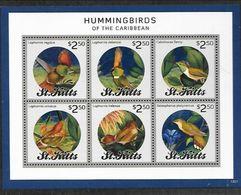 St. Kitts, 2013 Birds, Hummingbirds Sheetlet - Kolibries