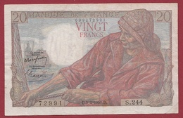 """20 Francs """"Pêcheur"""" Du 09/02/1950.D---TTB---ALPH .S.244--ALPHABET PEU COMMUN -AUCUN TROU D EPINGLE - 1871-1952 Gedurende De XXste In Omloop"""