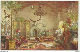 GBP43001 GB England Warwickshire - Warwick Castle - The Great Hall - Art - Vintage Postcard - Peintures & Tableaux
