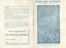 Libretto Religioso Opera Del Suffragio Chiesa Geù Vecchio Napoli Con Statuto E Preghiere 1916 (130) - Livres, BD, Revues